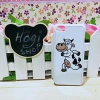 Custom Case iPhone 5C Bahan Hardcase Premium Base White Desain Sapi
