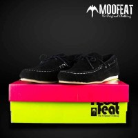 harga Sepatu Slip On Boat Flat Casual Shoes Pria Murah - Moofeat PSD Black Tokopedia.com