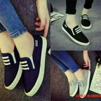 harga Grosir Sepatu Santai Kets Flat Shoes Km04 Dk18 Wanita Limited Tali Tokopedia.com