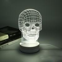 harga Lampu 3D LED Transparan Design Tengkorak - White Tokopedia.com