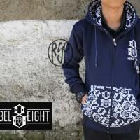 jaket rebel eight batik navy