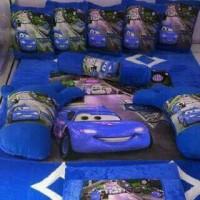 harga kasur lantai / karpet karakter cars biru Tokopedia.com