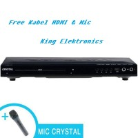 harga Crystal Dvd Player Hdmi 845 Free Mic & Kabel Hdmi New Tokopedia.com
