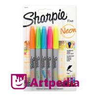 SHARPIE Neon Fine Point set 5 / Marker Neon / Spidol Neon - Terlaris