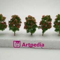 MAKET Pohon Pucuk Merah  /Diorama Pohon /Miniatur Pohon T= 4 cm