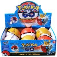 Jual Kado Mainan Anak Figur Pokemon THROW AND POP POKEBALL WITH LIGHT Murah