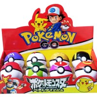 Jual Kado Mainan Anak Figur Pokemon POKEBALL 8 CM + FIGURINE 1PC (1 BOX 8PC Murah