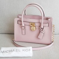 michael kors authentic medium hamilton pink blossom handbag