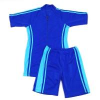 Baju Renang Dewasa Setelan Celana Diving Pria Wanita Biru