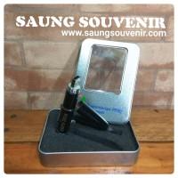 Flashdisk pulpen 8GB + Box dan grafir / Sablon custom