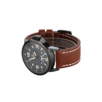 NAVIFORCE Men's Brown Leather Strap Watch (Intl)