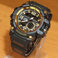 Jual JAM TANGAN PRIA CASIO G SHOCK BATMAN DOUBLETIME BLACK GOLD WATERRESIST Murah