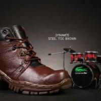 sepatu boot crocodile dynamite safety ujung besi proyek lapangan kerja