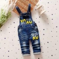 harga Celana Monyet Overall Jeans Denim 3/4 Anak Perempuan Cewek Import XOXO Tokopedia.com