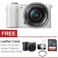 Sony Alpha A5000 Lensa 16-50mm Free Aksessories Kamera
