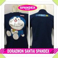 harga Kaos Doraemon Santai Spandex Navy Anime Manga Komik Baju Distro Tokopedia.com