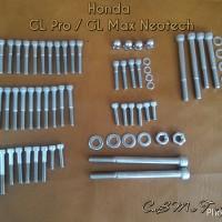 harga Baut L Stainless Set Mesin + Dudukan Honda GL Pro / Max Neotech Tokopedia.com