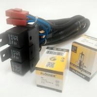 harga Kabel Relay Set Lampu by Relay BOSCH Bonus Bohlam Flosser H4 Tokopedia.com