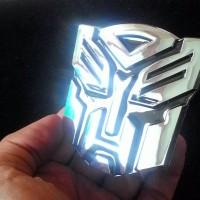 Jual Emblem Transformers Autobots/ Lambang Transformer Autobot Otobot Chrom Murah