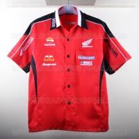 Kemeja Bordir Automotif MotoGP Honda Repsol Merah