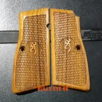 Grip Kayu untuk WE Browning / Pindad P1