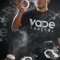 kaos/tshirt/gildan/sablon/24s/custom/vape capitol/vapor/vaping/vapor