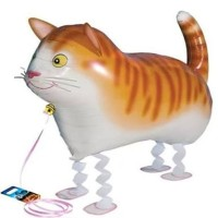 Balon foil air walker kucing