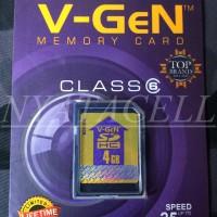 Memory Vgen SD Card 4GB Class 6/4 GB Original / Kamera / Memori / SDCard