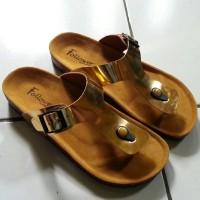 harga sandal wanita warna tembaga Tokopedia.com