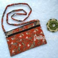 ECER Tas / Dompet Motif Batik Tali Slempang Size Kecil
