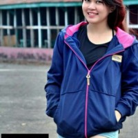 Jual Jaket Waniita Vans Navy Pink (Woman Jacket) Murah