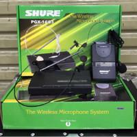 MURAH!! Mic Wireless Shure PGX 14/93 ( clip on + headset )