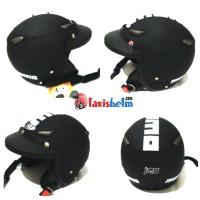 Helm Retro SNI JPN kawai momo warna hitam dof + path