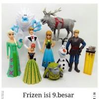 Jual mainan anak perempuan figure frozen elsa ana set 9pcs Murah