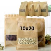 Jual Kraft Paper Bag 10x20 square| plastik ziplock | standing pouch | craft Murah