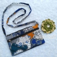 GROSIR Tas / Dompet Motif Batik Tali Selempang. Souvenir Hadiah Murah