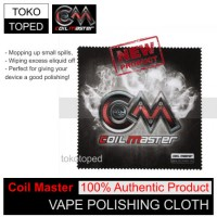 Authentic Coil Master Vape Polishing Cloth | kain rda rba rdta vapor
