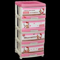Lemari / Laci Pakaian Napolly Hello Kitty 4 susun (SFC - 4000)