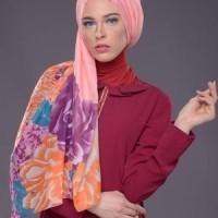 Jilbab Pashmina Murah Mezora Hungariia Foulard Warna Peach