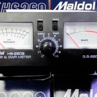 SWRMeter MALDOL HS-260. Freq. 3.5 - 220 Mhz, Max. 200 Watt.
