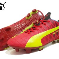 Sepatu Sport Murah ( Puma Bola Red Yellow )