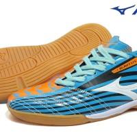 Sepatu Futsal Murah ( Mizuno Futsal Blue White )