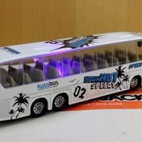 Jual Diecast Miniatur Replika Bis warna Putih / Bis Mania / Om Telolet Om Murah