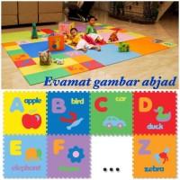 matras lantai untuk bayi / anak evamats / evamat abjad gambar