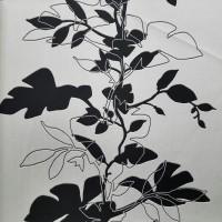 Wallpaper dinding Motif Black and White.
