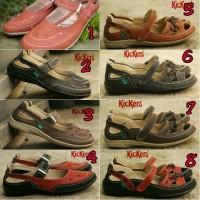 Jual sandal sepatu wanita kickers women coklat Murah
