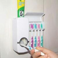 dispenser odol/tempat sikat gigi dan pasta gigi (toothpaste dispenser)