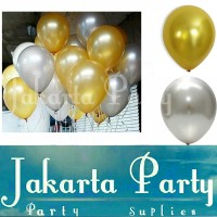 Balon Metalik Gold dan Silver