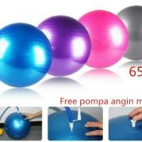 Jual Gym Ball Fitness Bola Olahraga Senam Yoga Kesehatan Gymball Free Pompa Murah