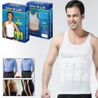 Slim N Lift Slimming Shirt Kaos Dalam Singlet Pelangsing Perut Tubuh